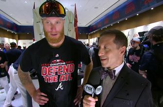 Mike Foltynewicz on almost throwing no-hitter during NL East clincher