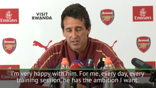 'Dead' Arsenal star pleads to team-mate for help after gruelling Unai Emery training session
