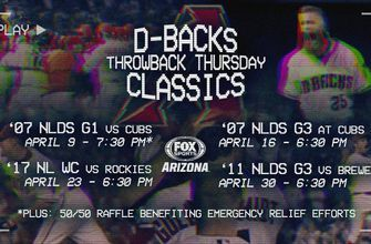 D-BACKS TO HOST 50/50 RAFFLE ONLINE DURING THROWBACK THURSDAY CLASSIC GAME ON FOX SPORTS ARIZONA