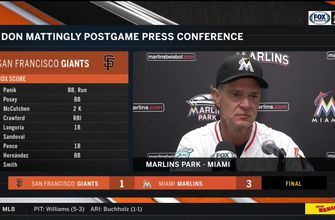 Don Mattingly on Marlins' second straight win over San Francisco Giants