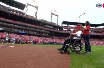 103-year-old WWII veteran throws ceremonial first pitch