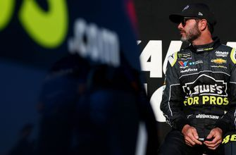 Jimmie Johnson says no one recognized him walking around in his fire suit in Las Vegas