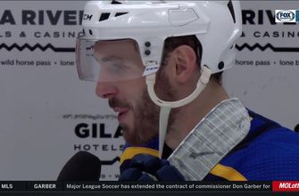 Edmundson on Binnington: 'He's pretty dialed right now and it's good to see'