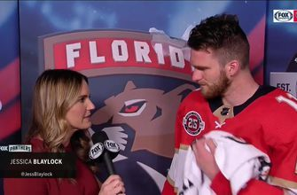 Jonathan Huberdeau on tonight's win: 'we played our hearts out for the Parkland victims'