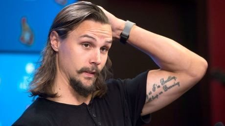 Watch new Shark Erik Karlsson's press conference from San Jose