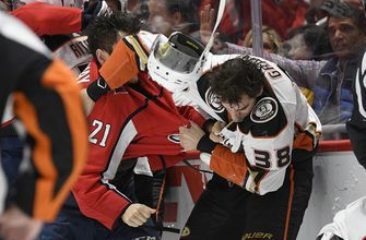 Capitals' Hathaway faces potential suspension for spitting