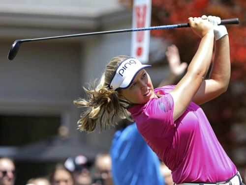 Brooke Henderson tied for lead at LPGA's Marathon Classic