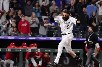 Blackmon's 2-run HR in 12th lifts Rockies past Phillies 4-3