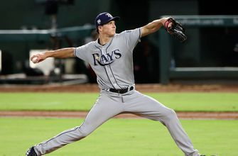 Tyler Glasnow holds Rangers to 2 infield singles in Rays' shutout win