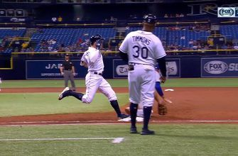 WATCH: Willy Adames hits an RBI single, Rays challenge overturned