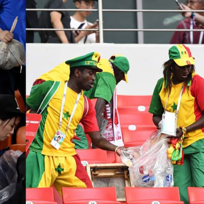 Japan and Senegal fans serve up some tidy football