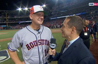Ken Rosenthal talks with AJ Hinch after the AL's thrilling win in the 2018 All-Star Game