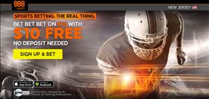 New Customer Offer: 888Sport giving new customers $10 No Deposit bonus