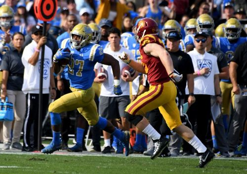 UCLA notebook: Joshua Kelley sets rivalry game record in UCLA win over USC