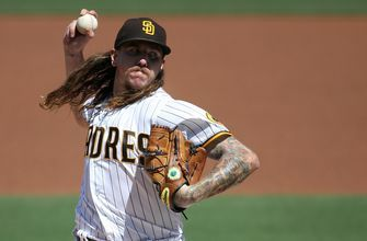 Mike Clevinger leaves due to injury as Padres fall to Angels, 5-2