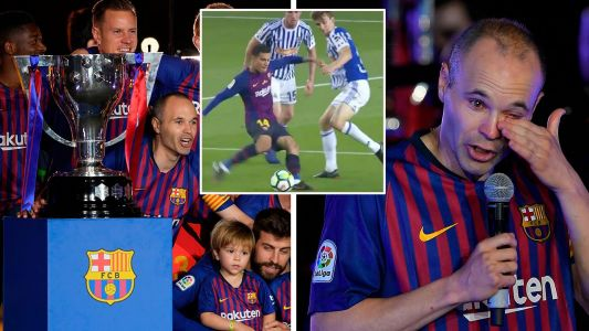 Coutinho cracker sends Iniesta off in style at Barcelona