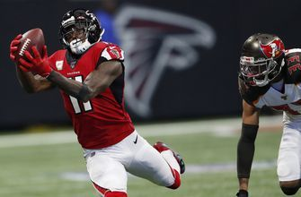 WR Jones, TE Hooper, G Lindstrom return to Falcons' offense