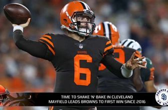 Baker Mayfield takes over and leads Browns to first win since 2015
