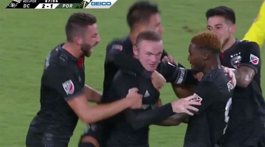 Watch: Wayne Rooney Scores Two Goals for D.C. United in Win Against Portland