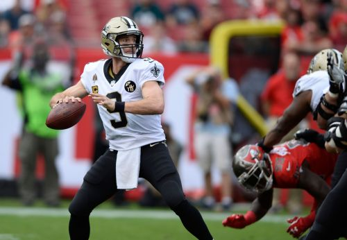 Brees connects with those who helped set NFL passing record