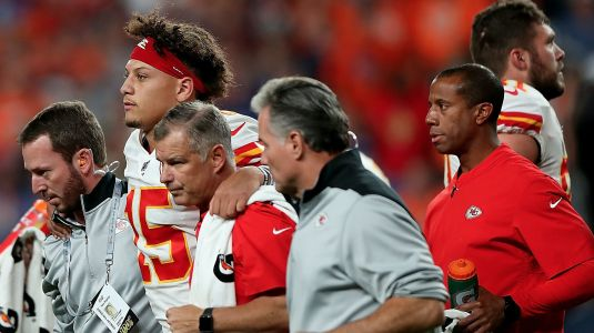 Patrick Mahomes leaves with an injury, so of course the Madden Curse comes up
