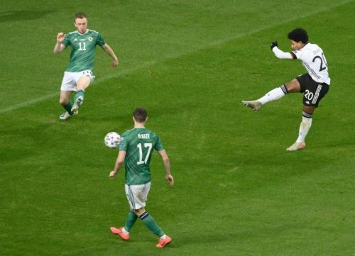 Gnabry hits treble as 'confident' Germany hammer Northern Ireland