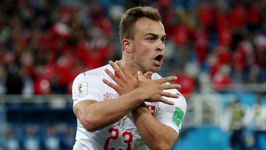 World Cup 2018: Late Xherdan Shaquiri goal lifts Switzerland over Serbia