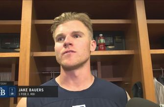 Jake Bauers on his sac bunt, Rays' win over Yankees