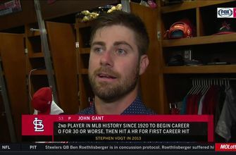 Gant explains connection with first home run and pitchers' batting practice: 'That's just about all we do during batting practice'