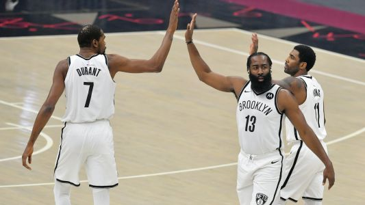 Kyrie Irving's 37-point return shows promising takeaways for Nets' Big 3 despite loss to Cavaliers