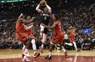 Westbrook has triple-double as Rockets beat Raptors 119-109