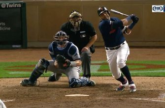 WATCH: Twins' Nelson Cruz clears the bases with a double