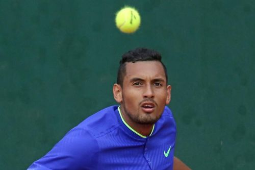 Watch: Nick Kyrgios sneaks underhand ace, argues with Miami Open fan