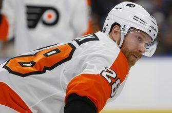 Giroux leads Flyers in 6-2 victory over Sabres