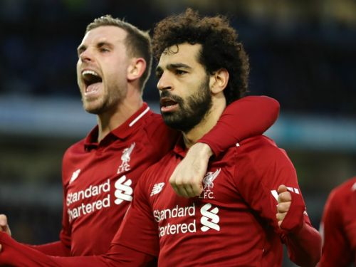 Penalty king Salah steps up again to settle Liverpool's title jitters