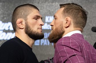 Conor Mcgregor and Khabib Nurmagomedov have an epic faceoff