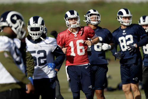 Always learning, Rams' Goff seeks results in NFC title game