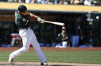 Marcus Semien has 3 and 5 RBIs, A's pound Angels 22-3
