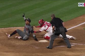 Angels foil sac squeeze attempt with terrific play at the plate