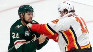Tkachuk delivers knockout blow to Wild in fight-filled matinee