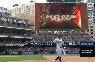 HIGHLIGHTS: Franmil Reyes delivers clutch 3-run home run as Padres complete sweep