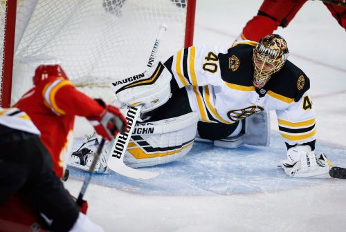 Frolik scores twice, leads Flames past Bruins 5-2