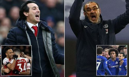 How have Unai Emery and Maurizio Sarri fared in England so far?