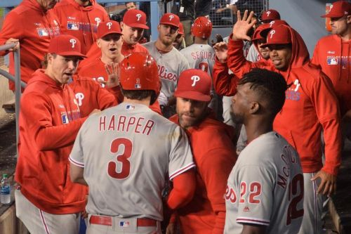 Watch: Bryce Harper gets first walk-off hit for Phillies, beats Dodgers