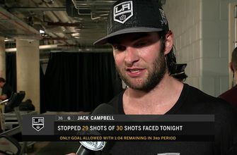 Jack Campbell's dominance in goal leads LA Kings to victory