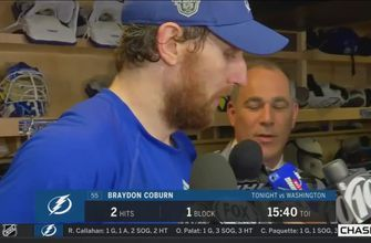 Braydon Coburn on trying to slow down Alex Ovechkin