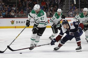 Stars tie it up in the 3rd, lose to Avalanche 6-4