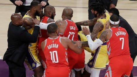 NBA doles out suspensions for Lakers-Rockets brawl