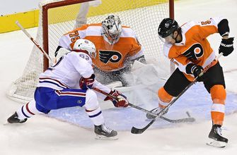 Hart, Farabee help Flyers beat Canadiens in Game 1