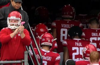 Put me in, coach! This Rutgers fan is fully committed to his squad